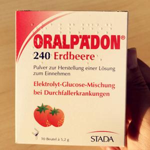宝宝发烧腹泻专用!ORALPAEDON婴幼儿电解质粉 草莓味 5.2g×10包