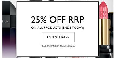 Escentual英国美妆网站 全场促销额外75折