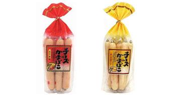日本メイホク辣味切达芝士鳕鱼肉肠 补钙奶酪鱼肠 272g