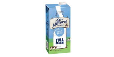 澳洲进口 So Natural 全脂纯牛奶1Lx12盒