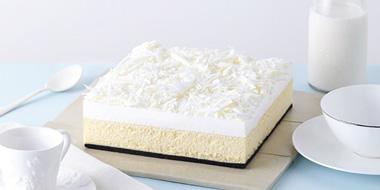 金奖蛋糕,LECAKE 诺心 雪域牛乳芝士蛋糕 订购1磅免费升至2磅