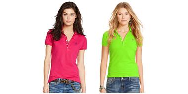 Ralph Lauren拉夫劳伦Skinny Stretch女士修身短袖Polo衫 2色可选