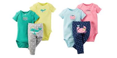 Carter's全场童装热卖,部分婴儿三件套服饰3折+额外75折