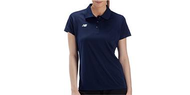 New Balance新百伦女士经典三粒扣短袖POLO衫