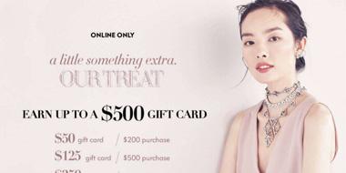 Neiman Marcus买精选正价商品及美容美妆品送礼卡