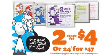 Goat Soap保湿滋润清洁纯手工羊奶皂100g 多款可选