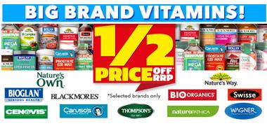澳洲大药房Chemist Warehouse现有大多数品牌保健品、护肤品等5折热卖