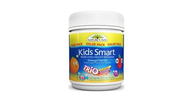 Nature's Way Kids Smart 佳思敏 儿童Omega-3鱼油咀嚼软糖 三重口味 180粒