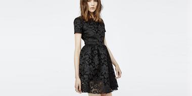 Maje 女士蕾丝刺绣小黑裙 5折售价£130