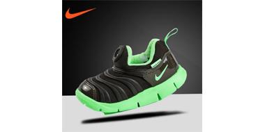 Nike耐克毛毛虫小童码机能运动鞋 黑绿配色