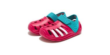 2016夏最新款 Adidas阿迪达斯 Zsandal 大童款凉鞋 红色