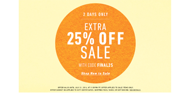 Shopbop & Eastdane现有精选男装低至3折+额外75折促销