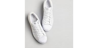 adidas 'Superstar' 女款纯色小白鞋