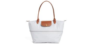Longchamp 'Le Pliage' 灰白色手袋