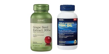 折扣还在!GNC健安喜鱼油&葡萄籽均一价$7.99