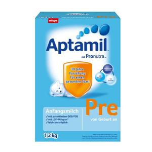 Aptamil 爱他美婴幼儿配方奶粉 Pre段(适合0-3个月宝宝)大盒装1.2Kg