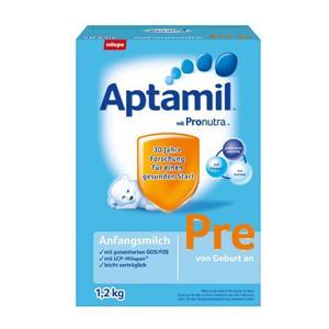 又便宜啦!Aptamil 爱他美婴幼儿配方奶粉 Pre段(适合0-3个月宝宝)大盒装1.2Kg
