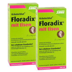 Salus Floradix铁元 补铁补血 女性孕妇圣品 500ml*2