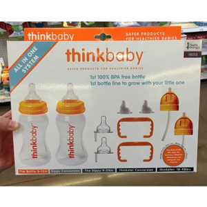Thinkbaby辛克宝宝多合一奶瓶渐进水杯礼品套装 适合0-48个月