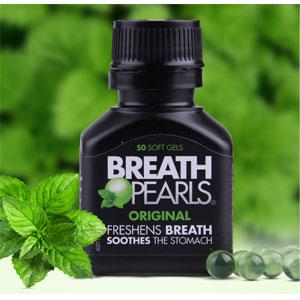 Breath Pearls植物本草口气清新胶囊去口臭50粒