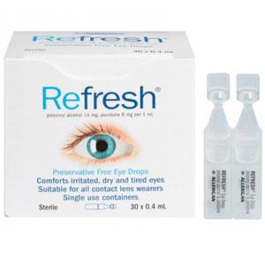 澳洲Refresh抗疲劳无防腐剂滴眼液/眼药水0.4ml*30支