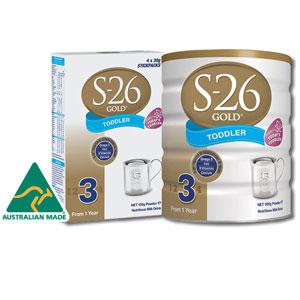 澳洲S-26 Golden惠氏金装婴幼儿配方奶粉1-4段900g