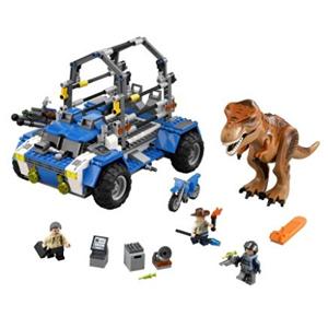 LEGO乐高 儿童拼装玩具侏罗纪75918霸王龙追踪器