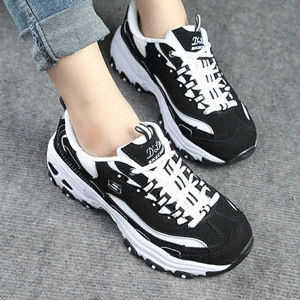 Skechers斯凯奇 D'Lites 女子休闲鞋 熊猫鞋
