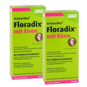 Salus Floradix铁元 绿铁补铁补血 女性孕妇圣品 500ml*2