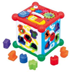 Toyroyal 新六面盒 多功能数字屋 形状配对玩具