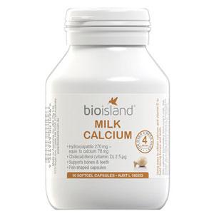 Bio Island液体乳钙软胶囊 90粒