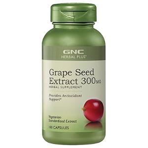 BUG价!GNC 健安喜 Herbal Plus 葡萄籽胶囊 300mg*100粒