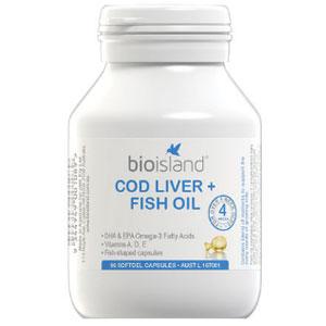 BIO ISLAND生物岛婴幼儿鳕鱼鱼肝油+鱼油胶囊90粒