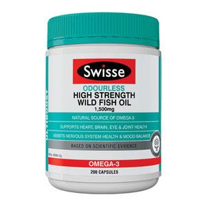 Swisse 无味高品质野生鱼油胶囊 200粒