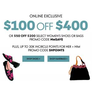 Neiman Marcus精选设计师品牌鞋包促销