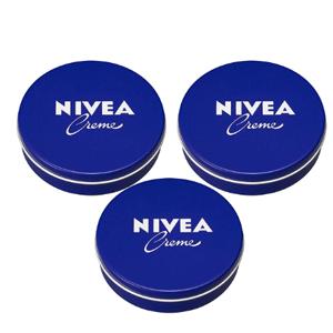Nivea妮维雅经典小蓝罐日本版169g*3铁盒