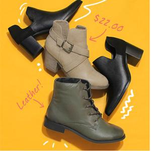 应季货!ShoeMetro现有各种短靴额外5折专场