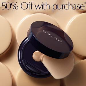 Estee Lauder雅思兰黛购买指定产品即可半价买下持妆无瑕液体粉盒