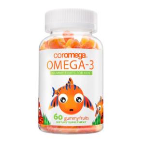 Coromega欧米茄-3儿童小熊水果软糖60粒