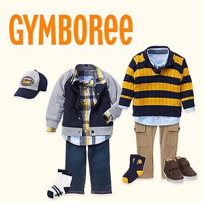 Gymboree金宝贝童装全场6折+清仓区额外5折