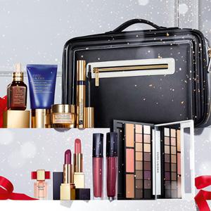 补货!Estee Lauder圣诞彩妆护肤11件套烟熏色换购价$62