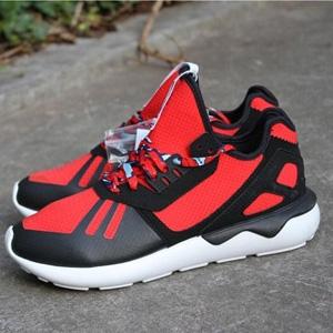 Adidas Originals 阿迪达斯Tubular 经典款男士跑鞋 红黑色