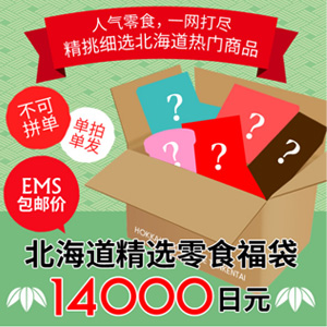 北海道精选18种零食大礼包折后12000日元(约745元)