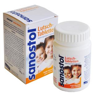 凑单品! sanostol儿童钙片多种维生素咀嚼片 75粒
