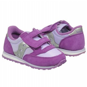 Saucony索康尼Kids Jazz HL儿童时尚运动鞋 紫罗兰