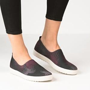ECCO 爱步 法拉 女士印花一脚蹬板鞋 棕色