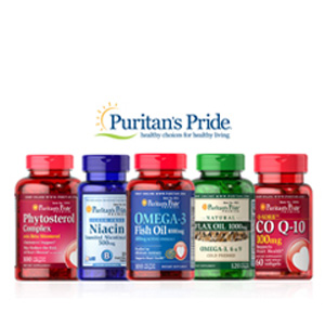 神价!Puritan's Pride 普瑞登美国官网精选自家品牌保健品热卖
