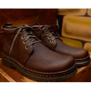 Dr. Martens 男士真皮4孔系带马丁靴