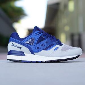 Saucony 索康尼 Grid SD 男士复古跑鞋 蓝白色
