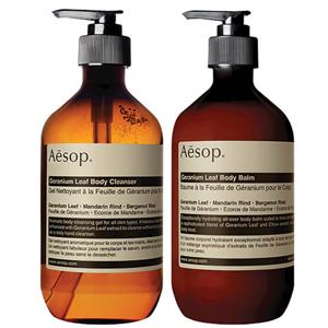Aesop伊索洗护套装(天竺葵身体洁肤露500ml+身体乳500ml)